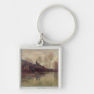 Floods at Giverny, 1886 (oil on canvas) Key Chain