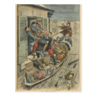 Floods, rescuing a paralytic postcard