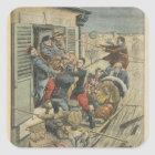 Floods, rescuing a paralytic square sticker