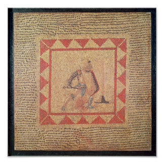 Floor depicting a gladiator, from Flace Poster
