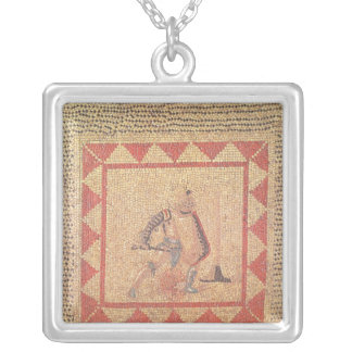 Floor depicting a gladiator, from Flace Square Pendant Necklace