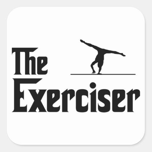 Floor Exercise Square Sticker