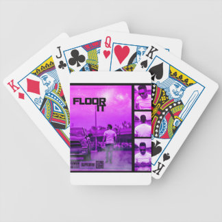 Floor It Cover Bicycle Playing Cards