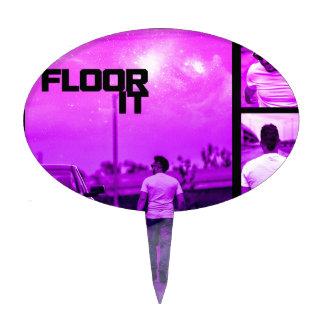Floor It Cover Cake Topper