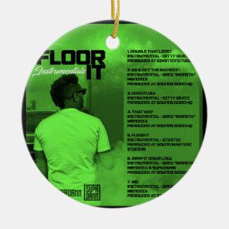 Floor It Instrumentals Reverse Ceramic Ornament