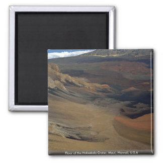 Floor of the Haleakala Crater, Maui, Hawaii, U.S.A Magnet
