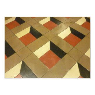 Floor Optical Illusion pattern tiles Las Vegas pho Card