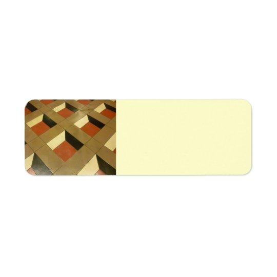 Floor Optical Illusion pattern tiles Las Vegas pho Label