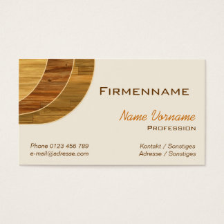 Floor publisher business card