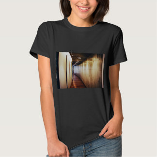 Floor Themed, Simple Modern Wooden Floor And Gold Tshirts