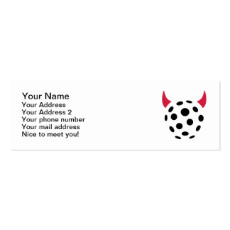 Floorball devil Double-Sided mini business cards (Pack of 20)