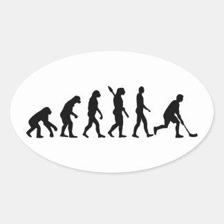 Floorball Evolution Oval Sticker