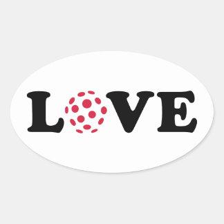 Floorball love oval sticker