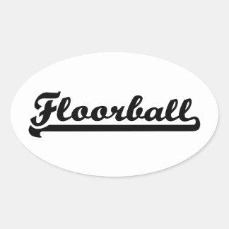 Floorball Oval Sticker