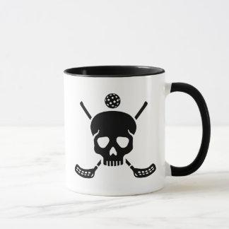 Floorball skull mug