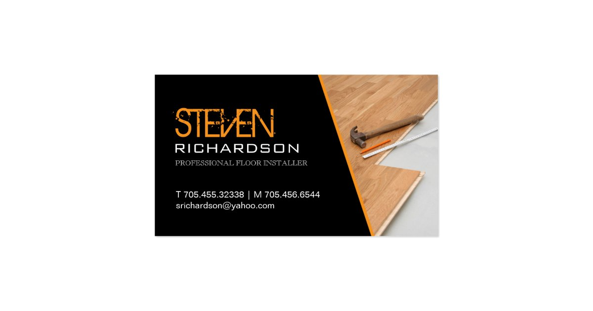 Flooring business card zazzle for Flooring business card