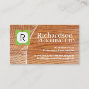 flooring business card - Flooring Business Cards