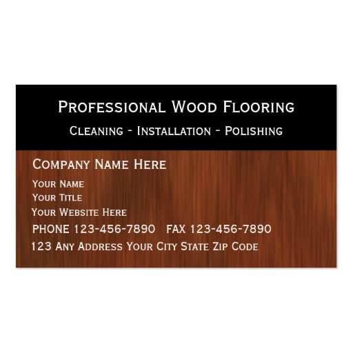 Flooring business cards zazzle for Flooring business card