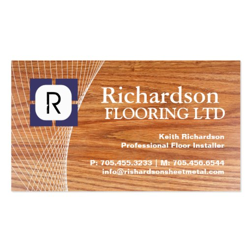 Flooring company business card zazzle for Flooring business cards