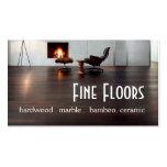 Flooring Hardwood Marble Construction Business Card Template