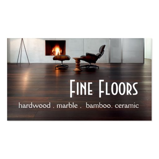 Flooring Hardwood Marble Construction Business Card Template