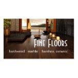 Flooring Hardwood Marble Construction Business Card