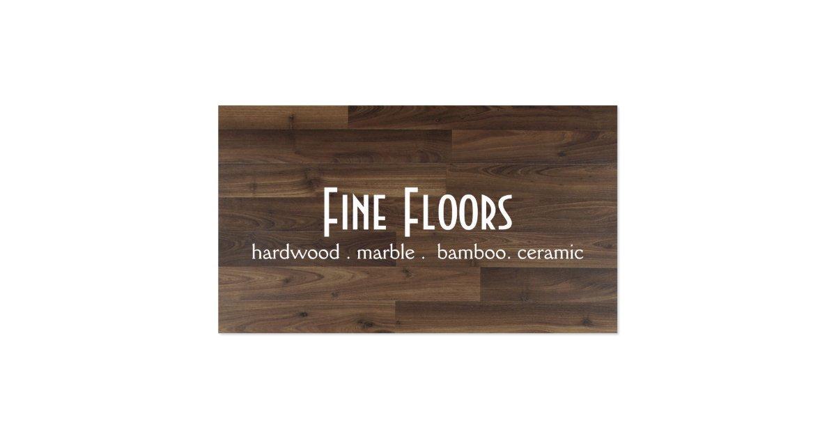 Flooring Installation Hardwood Marble Construction Business Card Zazzle
