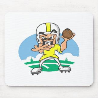 Flootball player mouse pad
