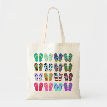 Beach Themed Flop Flop Chart Tote Bag