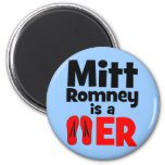 Flopper del tirón de Mitt Romney Imanes