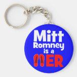 Flopper del tirón de Mitt Romney Llaveros