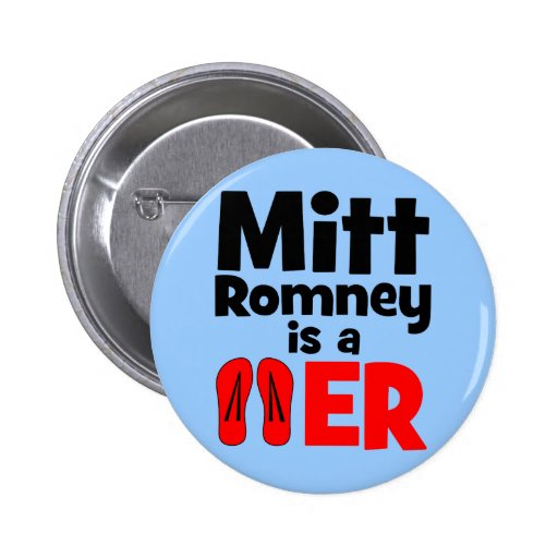 Flopper del tirón de Mitt Romney Pins