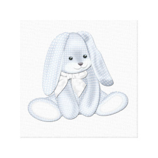 Floppy Baby Blue Plush Bunny Baby Canvas Art Canvas Print