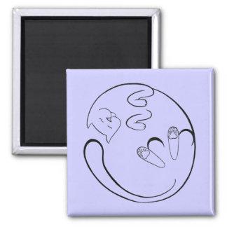 Floppy Cat Refrigerator Magnets