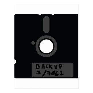 Floppy Disc Backup Postcard