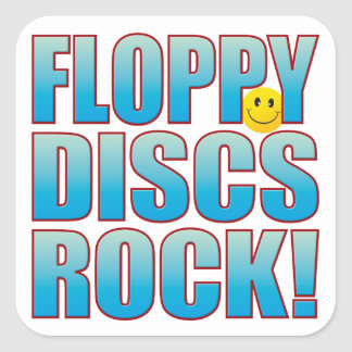 Floppy Discs Life B Square Sticker