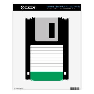 Floppy Disk (Black/Emerald Green) Skins For The NOOK