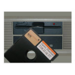 Floppy Disk Drive and Floppy Disk Postcard