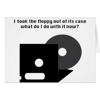 Floppy Disk Funnies Card