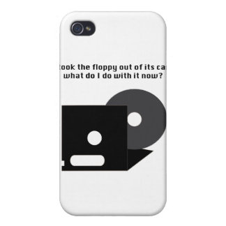 Floppy Disk Funnies Cases For iPhone 4