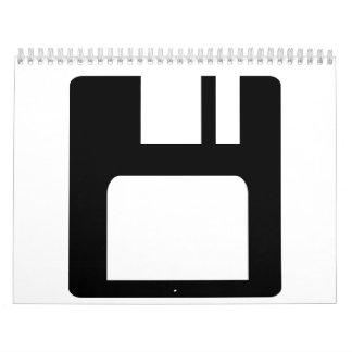 Floppy disk icon calendars
