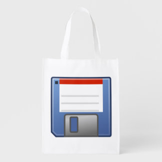 Floppy Disk Icon Reusable Grocery Bag