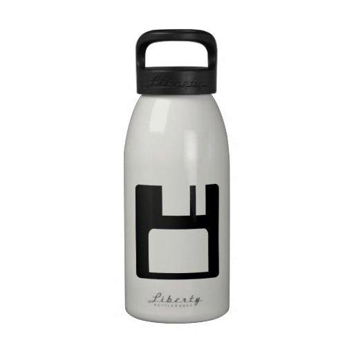 Floppy disk icon reusable water bottles