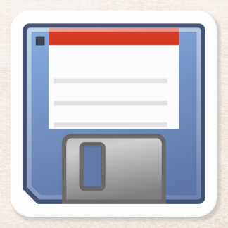 Floppy Disk Icon Square Paper Coaster