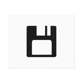 Floppy disk icon stretched canvas prints