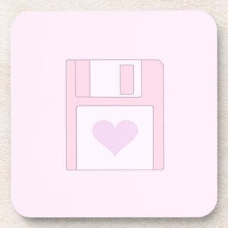 Floppy Disk Love. Coaster