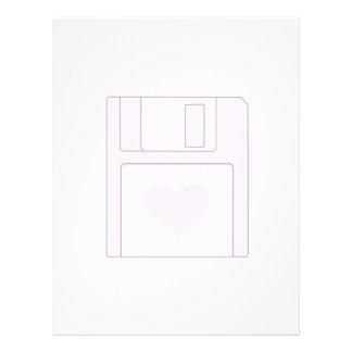 Floppy Disk Love Letterhead