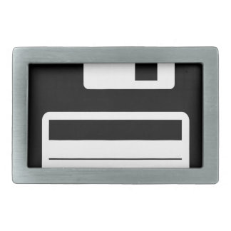 Floppy Disk Retro Illustration Design Belt Buckle