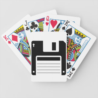 Floppy Disk Retro Illustration Design Bicycle Playing Cards