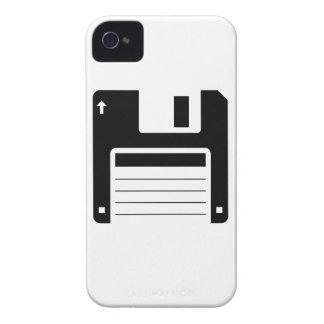 Floppy Disk Retro Illustration Design iPhone 4 Case-Mate Cases